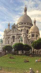 La Basilique du Sacre Coeur in Paris, image by Brittany Davies