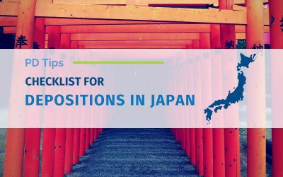 Checklist for Depositions in Japan (Updated)