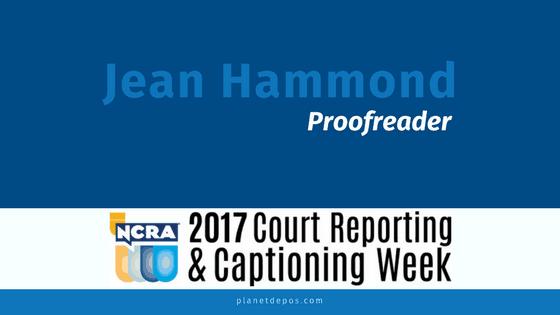 Spotlight: Jean Hammond, Proofreader