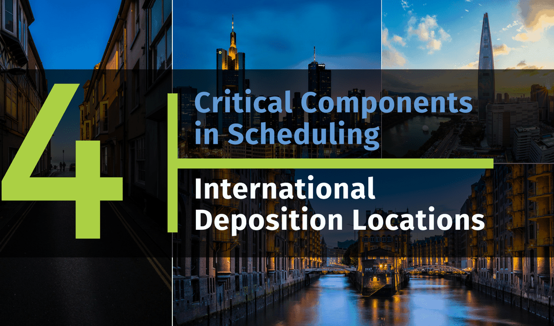 Four Critical Components in Scheduling International Deposition Locations