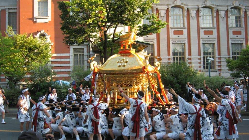 Celebrating Scholarship At The Tenjin Matsuri Parade