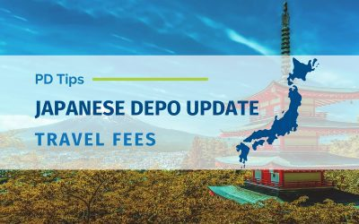 Japanese Deposition Update: Travel Fees