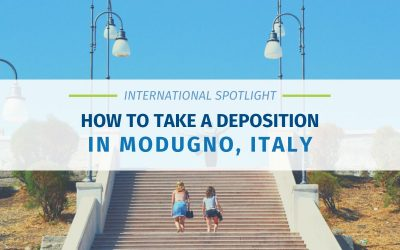 How To Take A Deposition in Modugno, Italy